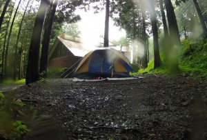 Tenting in the Rain