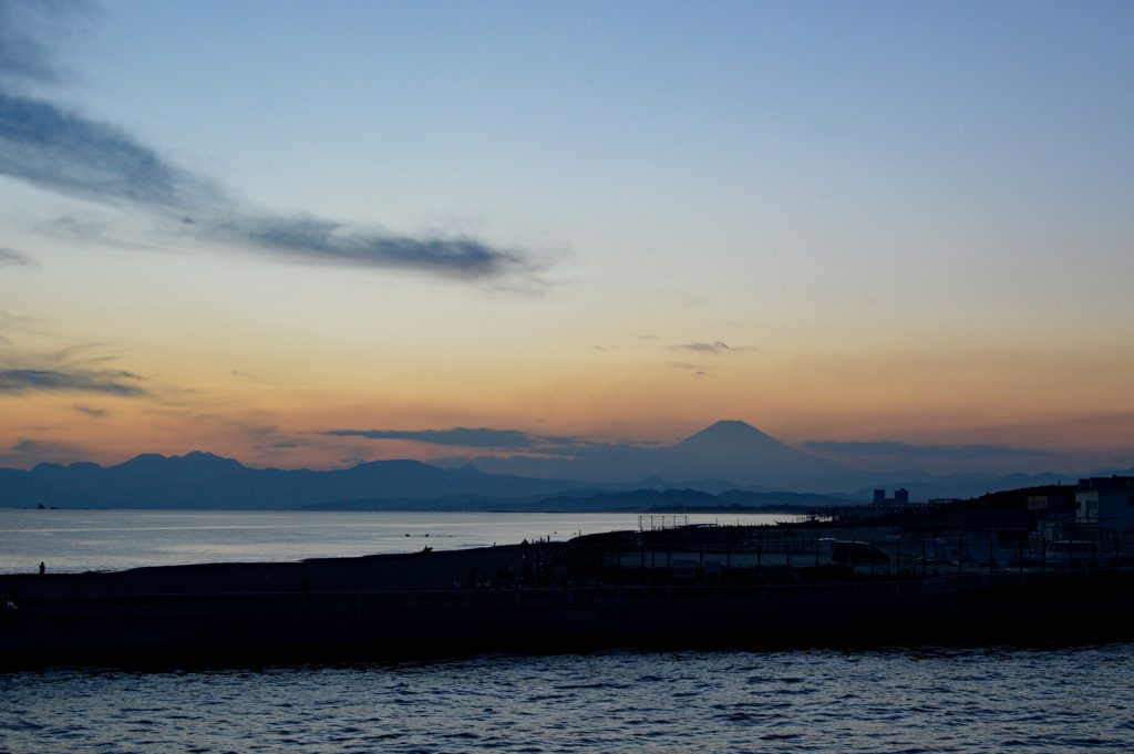 Fuji from the beach